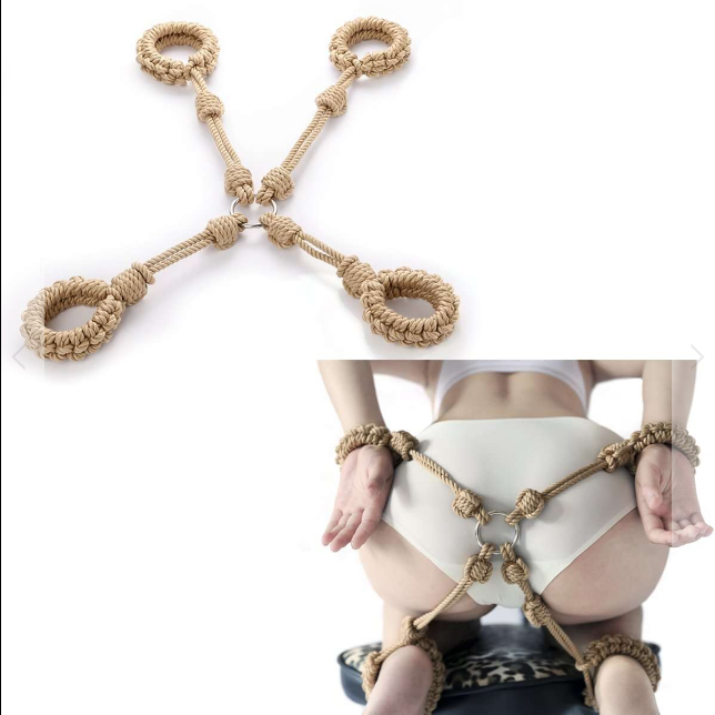 SHIBARI ROPE HOG-TIE / RESTRAINT GEAR AND BONDAGE PLAY FOR BDSM